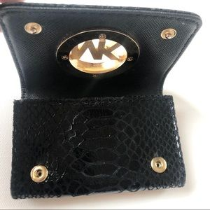 Micheal Kors Python Embossed Cardholder